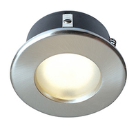 ROBIN SHOWER 50W mains voltage GU10  downlight, IP65, 83mm, Brushed chr