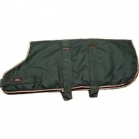 "Outhwaite Dog Coat Padded Lining Bottle Green 30"" x 1"