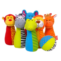 Jingly Jungle Soft Bowling Set