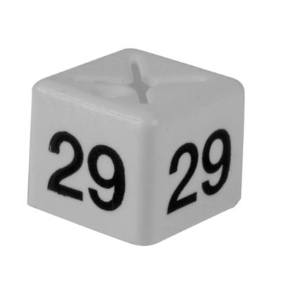 SHOPWORX CUBEX 'Size 29' Size cubes - White (Pack 50)