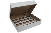 "4"" DEEP WHITE CUPCAKE BOX - 24 COUNT, 50pk"