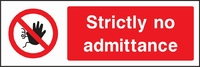Prohibition and Access Sign PROH0003-1178