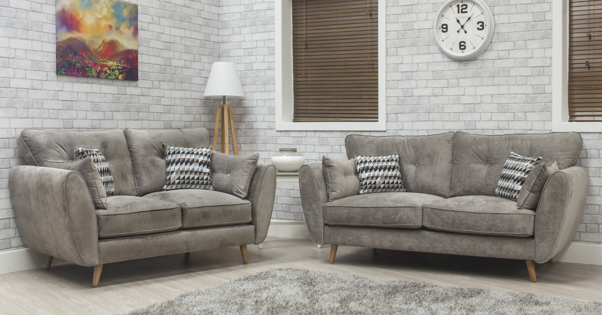 Marlo Fabric Sofa - Grey 3
