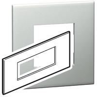 Arteor (British Standard) Plate + Support 6m Square Pearl Alu | LV0501.0118
