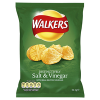 Walkers Salt & Vinegar Crisps- 32x32.5g