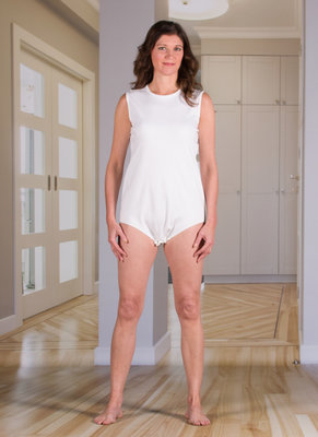 White Bodysuit with Snap-Button Closure