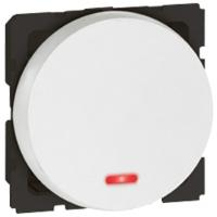 Arteor 20Amp Switch (Single Pole, Neon) 2 Module - White  | LV0501.2568