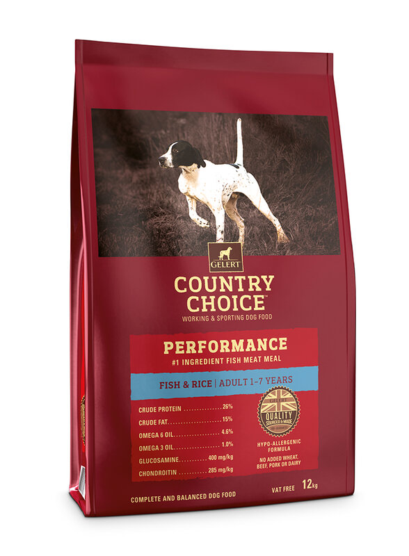 Gelert Country Choice Performance Fish Adult Dog Food 12kg