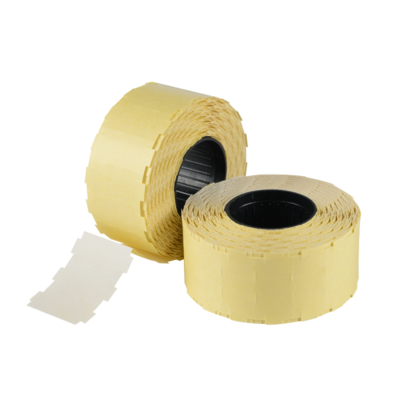 LYNX Nor D White Removable labels Roll 1200 (With Slits) (Box 38 Rolls - Total 45.6k)