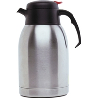 Beverage Jug Push Button Stainless Steel 52oz 1.5 Litre