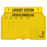 Master Lock 4-lock padlock station, english/french, unfilled