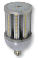 27 WATT LED CORN LAMP  GES/E40 4000K 4500 LUMEN 50000 HOUR NON DIMMABLE