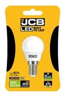 JCB 6W (40W) LED E14 GOLF BALL LAMP WARM WHITE 470 LUMEN