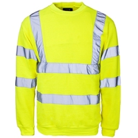 Supertouch Hi-Visibility Sweatshirt, Yellow