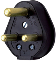 15 AMP PLUG RUBBER BLACK
