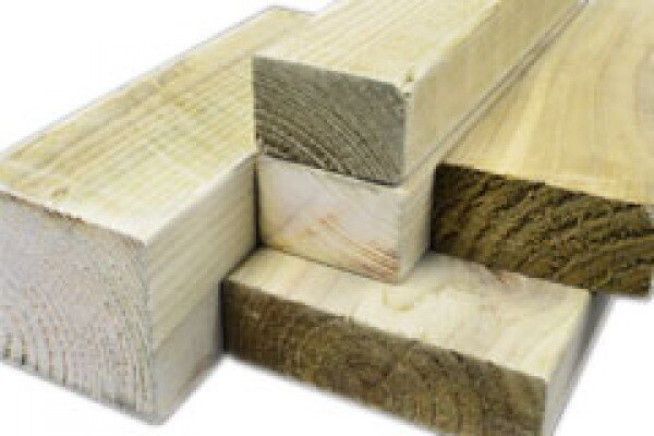 White Deal Rough Timber 3 Inch X 2 Inch X 8 Ft