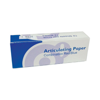 ARTICULATING PAPER RED/BLUE 71 MICRONS  12 X 12 SHEETs