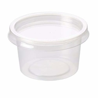 Container Plastic (With Lids)-Majestic-(1000x4oz)