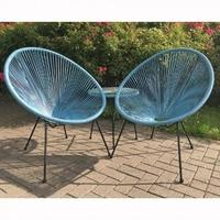 String Egg Chair Set (blue)