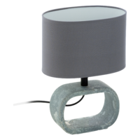 EGLO Lagonia Ceramic Grey with Grey Shade Table Lamp | LV1902.0074