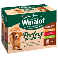 Winalot Pouches Perfect Portions - Mixed in Gravy 100g 12pk x 4