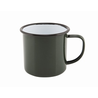 Mug Coloured Enamel Green 36cl 12.5oz