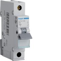 Hager 6AMP S/P MCB B Type