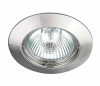 ONE Light Brushed Brass fixed Round Downlight