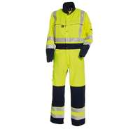 TRANEMO 4810  Hi-Visibility Poly/Cotton Coverall Yellow/Navy