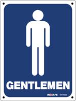 GENTLEMEN Male Toilet Sign