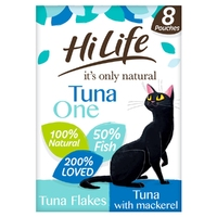 HiLife 'ION' Cat Pouch Complete - The Tuna One in Jelly 70g 8pk x 4