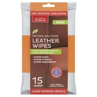 Acana Premium Leather Wipes 15pk