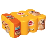 Pedigree Cans Adult in Jelly 385g 12-Pack x 2