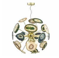 Achates 9 Light Feature Pendant, Gold & Agate | LV1802.0044
