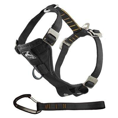 Kurgo Tru-Fit Smart Harness with Seatbelt Tether Black Large