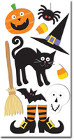 Cat Hat & Feet Large Essential Craft Sticker. (Priced in singles, order in multiples of 6)