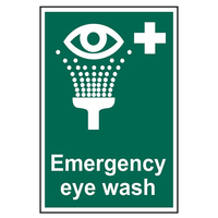 'Emergency Eyewash' Sign, SAV, 200 x 300mm