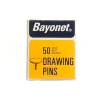 BAYONET DISPLAY BOX BRASSED DRAWING PINS