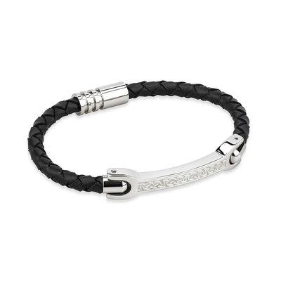mens celtic leather bracelet s50056 from Solvar