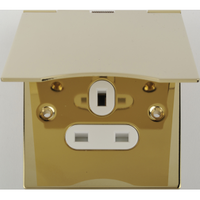 Socket Ultimate 1Gang Floor Socket Brass