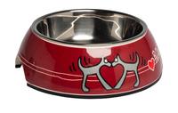Rogz Dog Bowlz - Bubble Large Red Heart 700ml x 1
