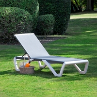 Toledo Sunlounger White And Charcoal lounger