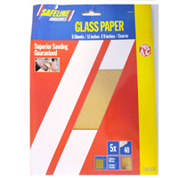 SAFELINE SANDPAPER 5PK SHEETS COURSE