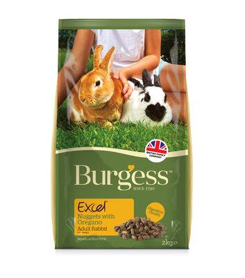 Burgess Excel Rabbit Adult with Oregano 2kg [Zero VAT]