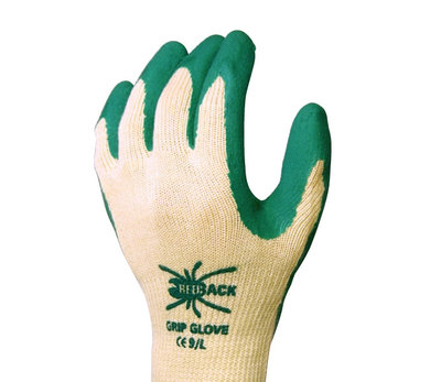 REDBACK Grip Glove Latex Palm Coated Green (Pair)