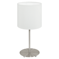 EGLO Pasteri Satin Nickel with White Shade Table Lamp | LV1902.0082