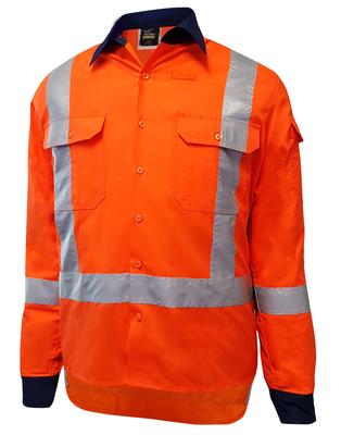 Techni Kool TTMC-W17 Long Sleeve Vented Coolit Ripstop Cotton Shirt 145gsm