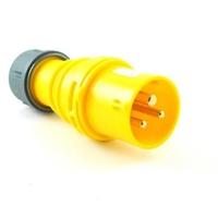 CEE P2164S Plug 16A 110V 3P Yellow