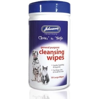 Johnson's Clean 'n' Safe Cleansing Wipes - 30 wipe Pack x 1