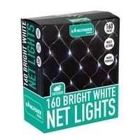 KINGFISHER 160 WHITE NET LED CHRISTMAS LIGHTS